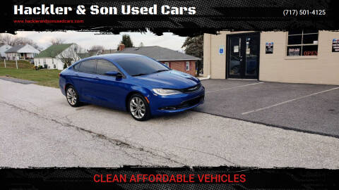 2015 Chrysler 200 for sale at Hackler & Son Used Cars in Red Lion PA