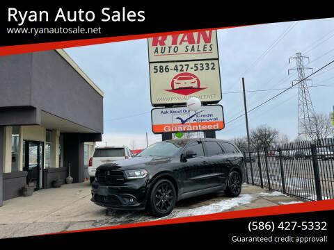 2017 Dodge Durango for sale at Ryan Auto Sales in Warren MI