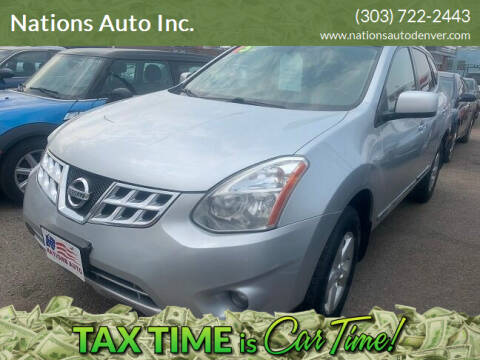 2013 Nissan Rogue for sale at Nations Auto Inc. in Denver CO