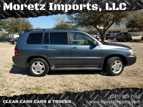 2004 Toyota Highlander for sale at Moretz Imports, LLC in Spring TX