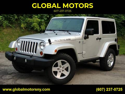 2012 Jeep Wrangler for sale at GLOBAL MOTORS in Binghamton NY