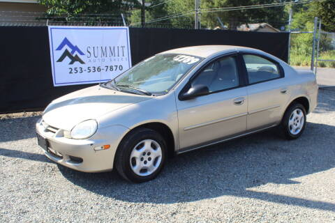 2002 Dodge Neon for sale at Summit Auto Sales in Puyallup WA