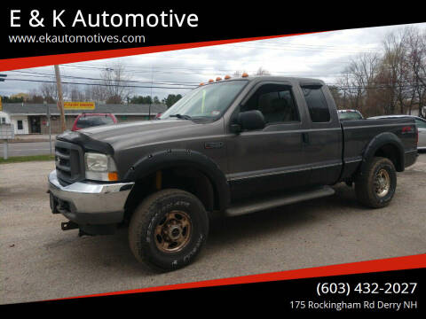 2003 Ford F-250 Super Duty for sale at E & K Automotive in Derry NH