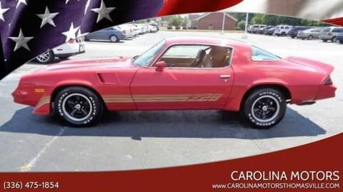 1981 Chevrolet Camaro for sale at CAROLINA MOTORS - Carolina Classics & More-Thomasville in Thomasville NC