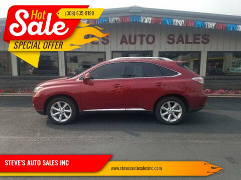 2010 Lexus RX 350 for sale at STEVE'S AUTO SALES INC - Regular Inventory in Scottsbluff NE