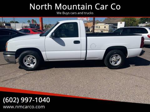 2003 Chevrolet Silverado 1500 for sale at North Mountain Car Co in Phoenix AZ