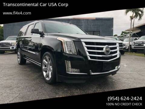2015 Cadillac Escalade for sale at Transcontinental Car in Fort Lauderdale FL