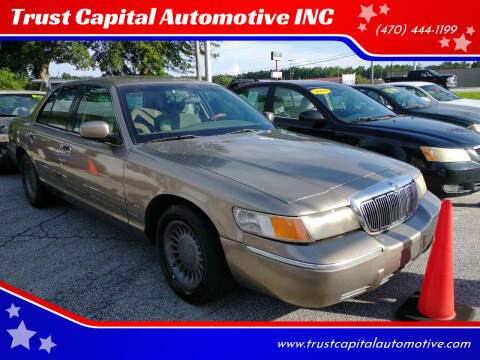 2001 Mercury Grand Marquis for sale at Trust Capital Automotive Inc. in Covington GA