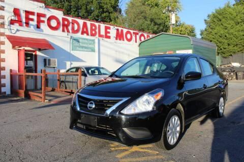 2017 Nissan Versa for sale at AFFORDABLE MOTORS INC in Winston Salem NC