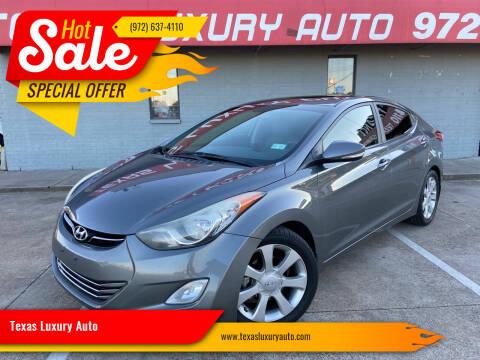2013 Hyundai Elantra for sale at Texas Luxury Auto in Cedar Hill TX