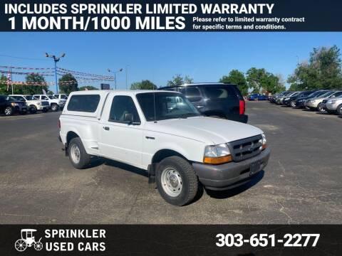 2000 Ford Ranger for sale at Sprinkler Used Cars in Longmont CO