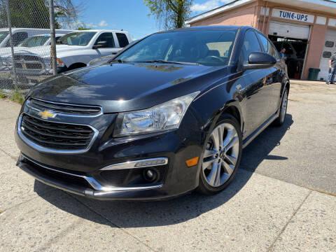 2015 Chevrolet Cruze for sale at Seaview Motors and Repair LLC in Bridgeport CT