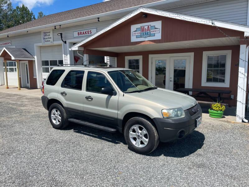 2005 Ford Escape for sale at M&A Auto in Newport VT