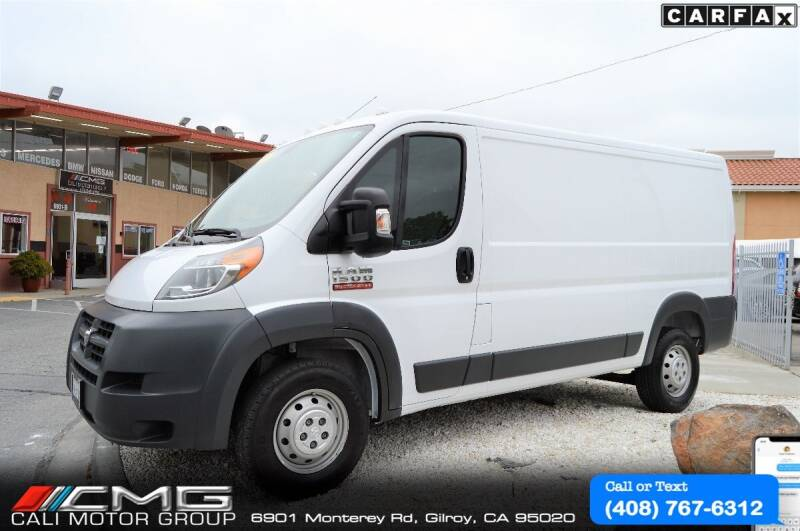 2017 RAM ProMaster Cargo for sale at Cali Motor Group in Gilroy CA