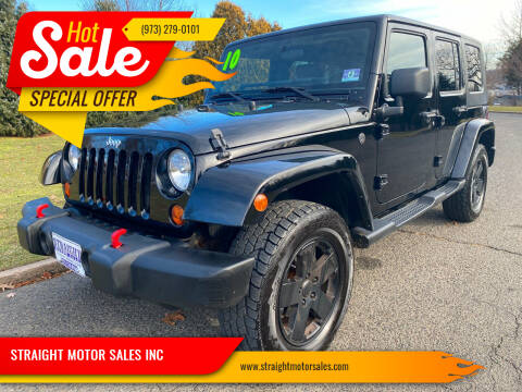 2010 Jeep Wrangler Unlimited for sale at STRAIGHT MOTOR SALES INC in Paterson NJ