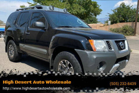 2015 Nissan Xterra for sale at High Desert Auto Wholesale in Albuquerque NM