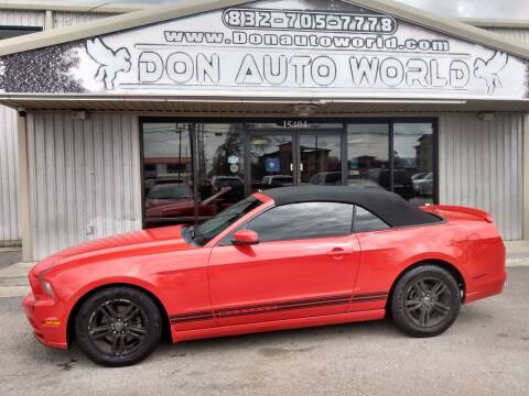 2013 Ford Mustang for sale at Don Auto World in Houston TX