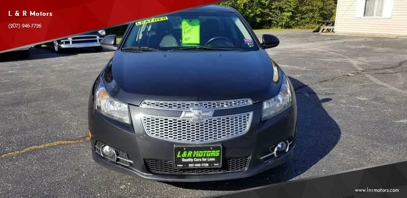 2014 Chevrolet Cruze for sale at L & R Motors in Greene ME