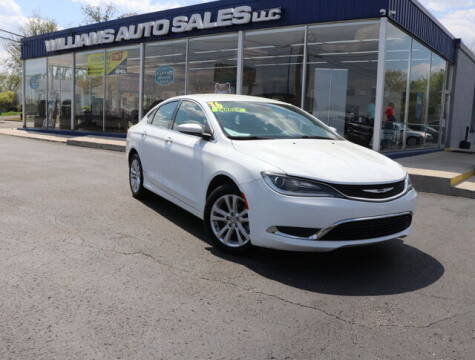 2016 Chrysler 200 for sale at Williams Auto Sales, LLC in Cookeville TN