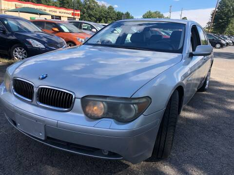 2002 BMW 7 Series for sale at Atlantic Auto Sales in Garner NC