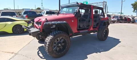 2010 Jeep Wrangler Unlimited for sale at AUTOTEX FINANCIAL in San Antonio TX