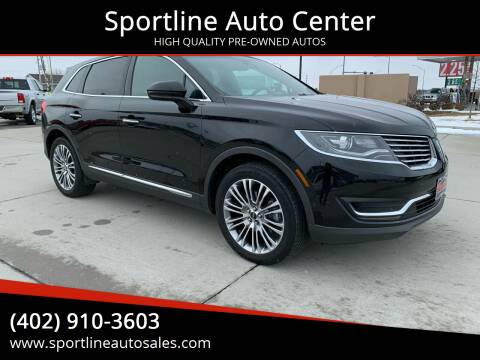 2017 Lincoln MKX for sale at Sportline Auto Center in Columbus NE