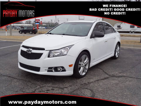 2012 Chevrolet Cruze for sale at Payday Motors in Wichita And Topeka KS