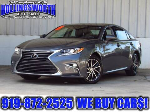 2017 Lexus ES 350 for sale at Hollingsworth Auto Sales in Raleigh NC