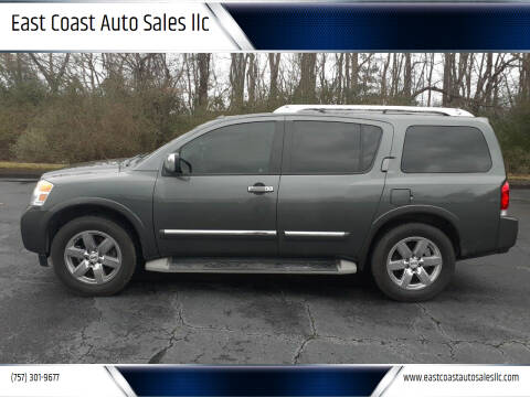 2012 Nissan Armada for sale at East Coast Auto Sales llc in Virginia Beach VA