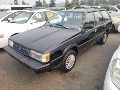 1991 Subaru Loyale for sale at SS MOTORS LLC in Edmonds WA