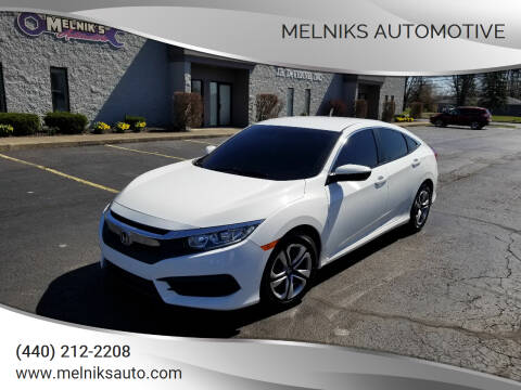 2016 Honda Civic for sale at Melniks Automotive in Berea OH