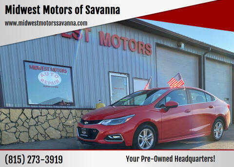 2018 Chevrolet Cruze for sale at Midwest Motors of Savanna in Savanna IL