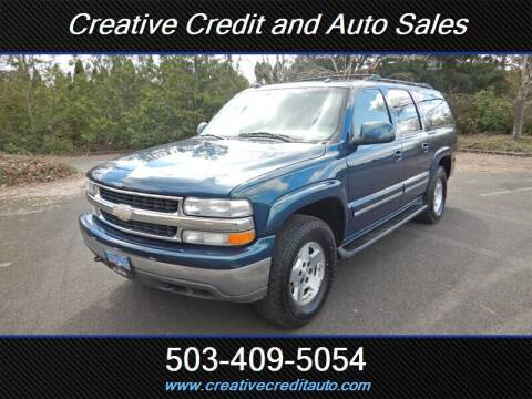 2005 Chevrolet Suburban for sale at Creative Credit & Auto Sales in Salem OR
