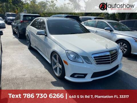 2011 Mercedes-Benz E-Class for sale at AUTOSHOW SALES & SERVICE in Plantation FL