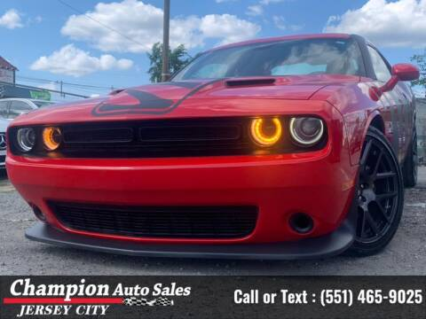 2016 Dodge Challenger for sale at CHAMPION AUTO SALES OF JERSEY CITY in Jersey City NJ