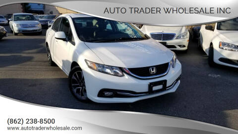 2013 Honda Civic for sale at Auto Trader Wholesale Inc in Saddle Brook NJ