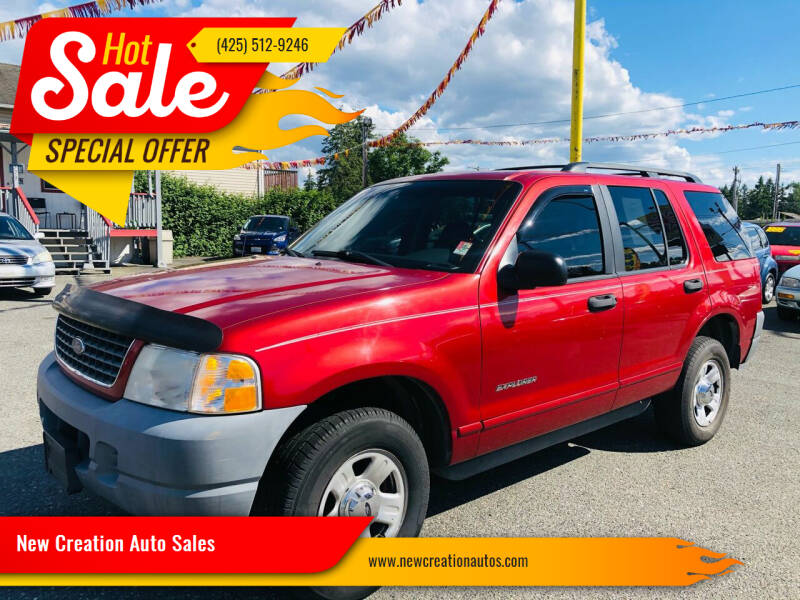 2002 Ford Explorer for sale at New Creation Auto Sales in Everett WA