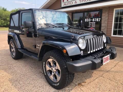 2016 Jeep Wrangler for sale at Premier Auto & Truck in Chippewa Falls WI