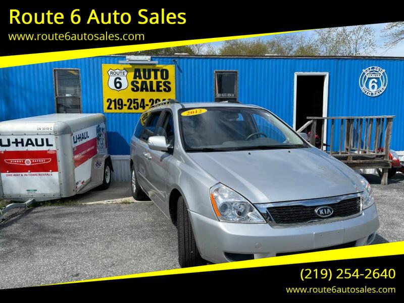 2012 Kia Sedona for sale at Route 6 Auto Sales in Portage IN
