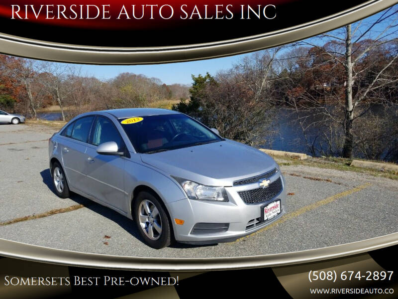 2013 Chevrolet Cruze for sale at RIVERSIDE AUTO SALES INC in Somerset MA