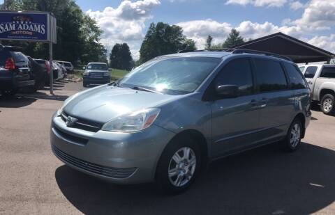 2004 Toyota Sienna for sale at Sam Adams Motors in Cedar Springs MI