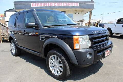 2008 Land Rover LR3 for sale at CERTIFIED CAR CENTER in Fairfax VA