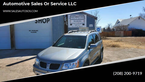 2006 Pontiac Torrent for sale at Automotive Sales Or Service LLC in Rexburg ID