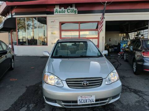 2004 Toyota Corolla for sale at Auto City in Redwood City CA