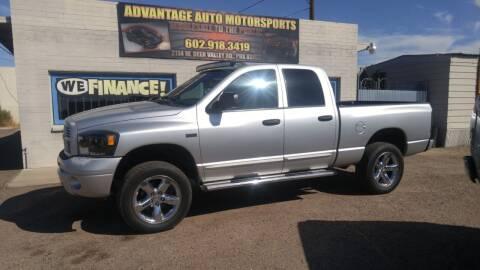 2007 Dodge Ram Pickup 1500 for sale at Advantage Auto Motorsports in Phoenix AZ