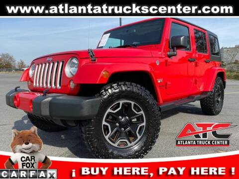 2016 Jeep Wrangler Unlimited for sale at ATLANTA TRUCK CENTER LLC in Brookhaven GA