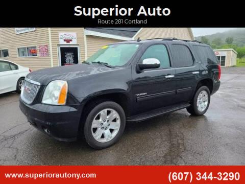 2012 GMC Yukon for sale at Superior Auto in Cortland NY