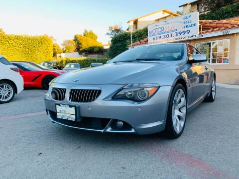 2007 BMW 6 Series for sale at MotorMax in Lemon Grove CA