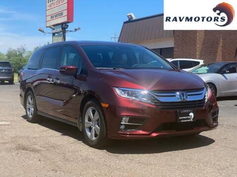 2019 Honda Odyssey for sale at RAVMOTORS in Burnsville MN