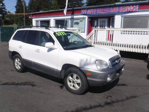 2006 Hyundai Santa Fe for sale at 777 Auto Sales and Service in Tacoma WA